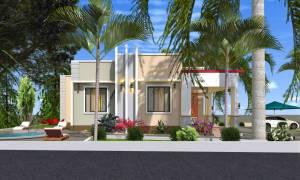 House Plan ID-14855, 3 bedrooms, 2923+1642 bricks and 75 corrugates