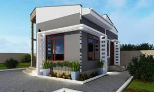 House Plan ID-15831, 1 bedrooms, 931+463 bricks and 27 corrugates