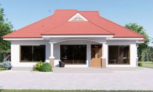 House Plan ID-16381, 4 bedrooms, 3367+1665 bricks and 129 corrugates
