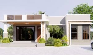 House Plan ID-16416, 4 bedrooms, 5005+1869 bricks and 95 corrugates