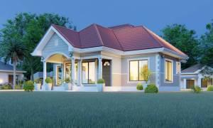 House Plan ID-16490, 3 bedrooms, 2686+1336 bricks and 105 corrugates