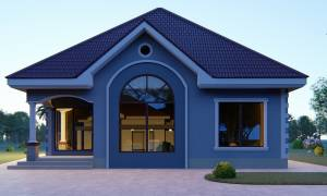 House Plan ID-17219, 3 bedrooms, 2653+1319 bricks and 102 corrugates