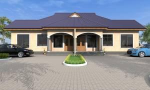 House Plan ID-17103, 1 bedrooms, 3634+1808 bricks and 140 corrugates