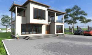 House Plan ID-17040, 4 bedrooms, 5321+1596 bricks and  corrugates