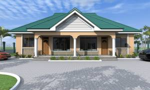 House Plan ID-17125, 3 bedrooms, 3741+1860 bricks and 144 corrugates