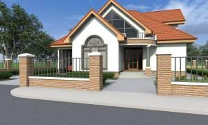 House Plan ID-17034, 5 bedrooms, 4168+1775 bricks and 135 corrugates