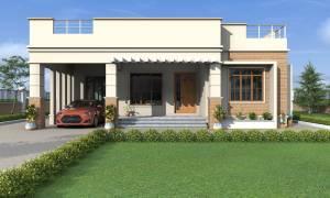 House Plan ID-17023, 4 bedrooms, 5568+2065 bricks and 95 corrugates
