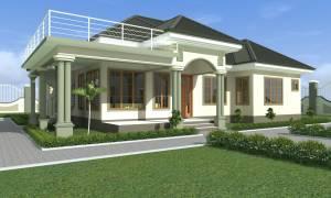 House Plan ID-17573, 4 bedrooms, 3656+1985 bricks and 153 corrugates