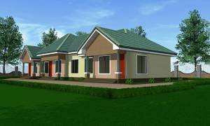 House Plan ID-16818, 2 bedrooms, 4278+2127 bricks and 164 corrugates