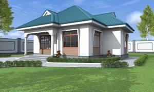 House Plan ID-17198, 2 bedrooms, 1880+935 bricks and 72 corrugates