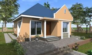 House Plan ID-17859, 3 bedrooms, 2345+1166 bricks and 90 corrugates