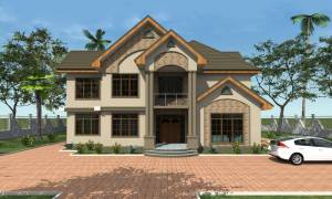 House Plan ID-17807, 4 bedrooms, 9354+3025 bricks and 146 corrugates