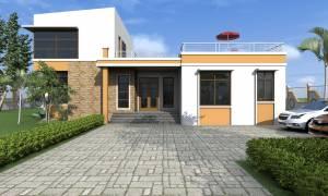 House Plan ID-17733, 3 bedrooms, 7040+2070 bricks and 20 corrugates