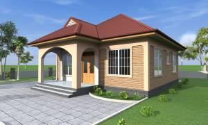 House Plan ID-17746, 2 bedrooms, 1522+757 bricks and 58 corrugates