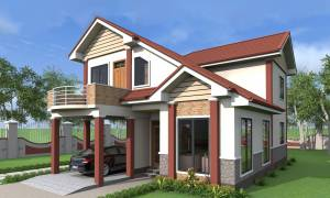 House Plan ID-18207, 4 bedrooms, 5208+1648 bricks and 74 corrugates
