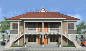 House Plan ID-18140, 2 bedrooms, 9487+2726 bricks and 123 corrugates