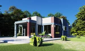 House Plan ID-18594, 3 bedrooms, 4450+1650 bricks and 76 corrugates