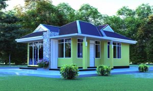 House Plan ID-7786, 3 bedrooms, 830+553 bricks and 62 corrugates