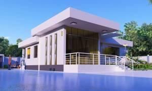 House Plan ID-10153, 3 bedrooms, 2601+1405 bricks and 82 corrugates