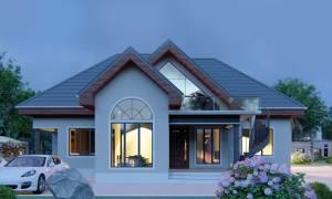 House Plan ID-19368, 4 bedrooms, 3455+1718 bricks and 133 corrugates