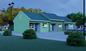 House Plan ID-13597, 2 bedrooms, 4382+1391 bricks and 129 corrugates