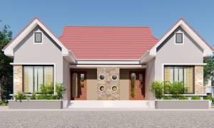 House Plan ID-19468, 2 bedrooms, 3437+1709 bricks and 132 corrugates