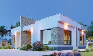 House Plan ID-20419, 1 bedrooms, 3672+1362 bricks and 63 corrugates