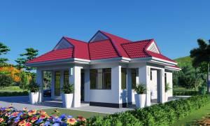 House Plan ID-7823, 3 bedrooms, 1200+645 bricks and 65 corrugates