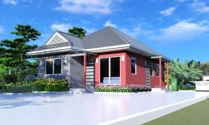House Plan ID-11210, 3 bedrooms, 1096+418 bricks and 50 corrugates