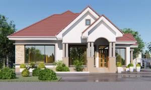 House Plan ID-20968, 4 bedrooms, 4923+2448 bricks and 189 corrugates