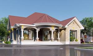 House Plan ID-20992, 4 bedrooms, 3741+1860 bricks and 144 corrugates