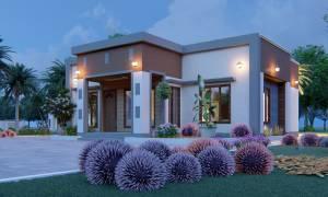House Plan ID-21599, 3 bedrooms, 3456+1282 bricks and 59 corrugates