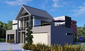 House Plan ID-9223, 4 bedrooms, 7866+1322 bricks and 36 corrugates