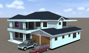 House Plan ID-14732, 4 bedrooms, 7304+1228 bricks and 165 corrugates