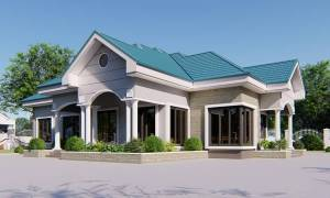 House Plan ID-15370, 4 bedrooms, 4565+2270 bricks and 175 corrugates
