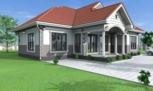House Plan ID-15450, 4 bedrooms, 3741+1860 bricks and 144 corrugates
