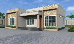 House Plan ID-15424, 2 bedrooms, 2430+975 bricks and 53 corrugates