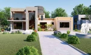 House Plan ID-15404, 4 bedrooms, 7243+1625 bricks and 125 corrugates