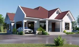 House Plan ID-16141, 3 bedrooms, 4135+2056 bricks and 159 corrugates
