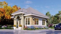 House Plan ID-22351, 2 bedrooms, 780+414 bricks and 45 corrugates