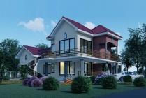 House Plan ID-21702, 5 bedrooms, 9772+3682 bricks and 202 corrugates