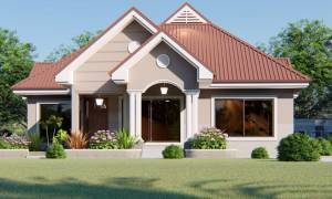 SIMPLE THREE BEDROOMS HOUSE