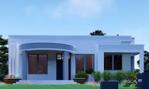 Best round front contemporary house 3 bedrooms